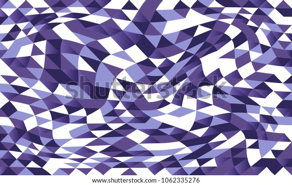 Abstract geometric ultra violet graphic  illusion pattern design of triangles, vector design.