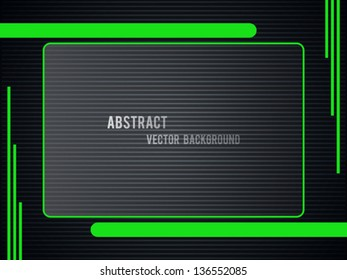 Abstract geometric vector background with glass banner