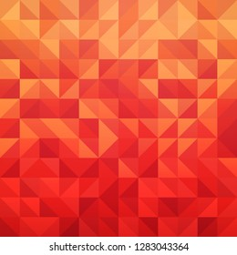 Abstract geometric vector background in red color with triangle tile pattern. Illustration of Modern design element.