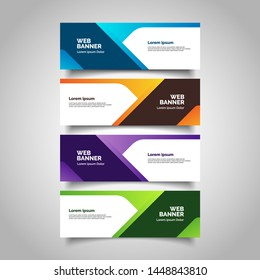 Abstract geometric vector banners. modern template design for web