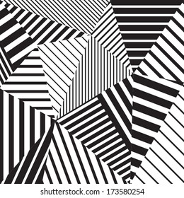 Abstract geometric vector black and white pattern
