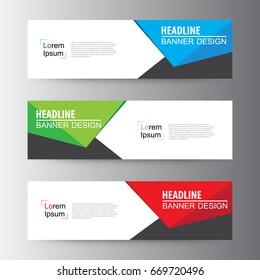 Abstract geometric vector Web banner design background, header Templates design.