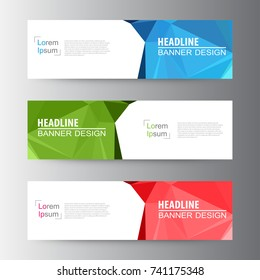 64f87f9af87 Abstract geometric vector Web banner design background