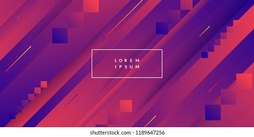 Abstract geometric wallpaper. Dynamic shapes composition. Eps10 vector.