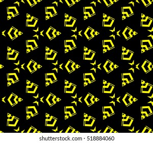 Abstract geometric wallpaper. vector. yellow and black