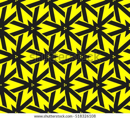 Abstract Geometric Wallpaper Vector Yellow Black Stock