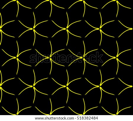 Abstract Geometric Wallpaper Vector Yellow Black Royalty