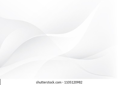 Abstract geometric white and gray color background. Vector, illustration.