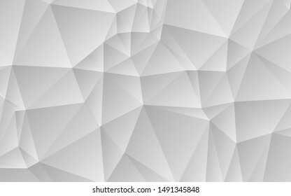 Abstract geometric white and gray color background. Light Silver, low poly layout. Creative illustration in halftone style with gradient. Completely new design for your business. Vector illustration.