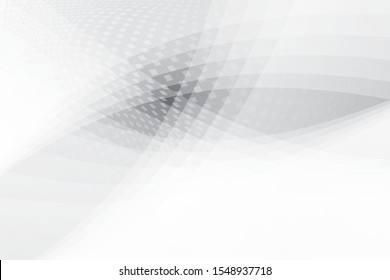 Abstract geometric white and gray color background with halftone effect.