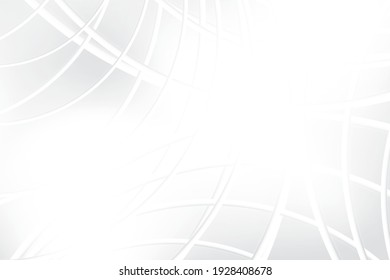 Abstract geometric white and gray color background. Vector illustration.