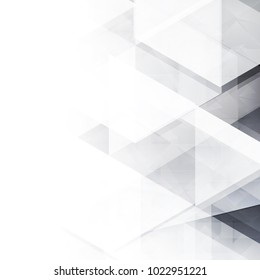 Abstract geometric white and gray with space modern design on Light gray silver background, vector illustration eps 10