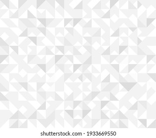 Abstract geometric white grey and silver background. Geometric triangles vector, seamless halftone pattern. Elegant gradient concept abstractive business vector