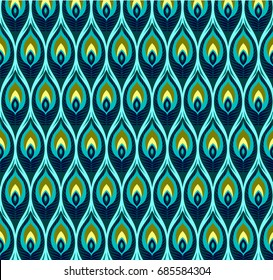 abstract geometrical background, Of peacock feathers