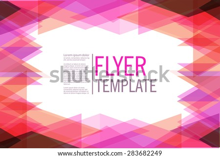 abstract geometrical flyer background design template stock vector
