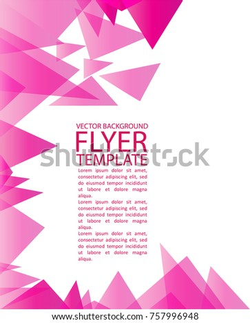 Abstract geometrical flyer background template vector stock vector abstract geometrical flyer background template with vector elements and space for text maxwellsz