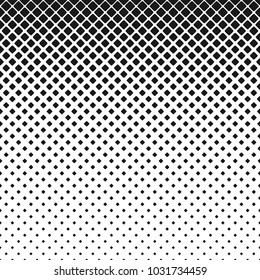 Abstract geometrical monochrome rounded square pattern background - vector illustration with diagonal squares in varying sizes