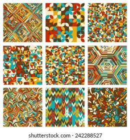 Abstract Geometrical Multicolored mosaic Background, Vector Illustration EPS10