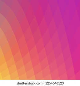 Abstract geometrical quadrilateral polygonal squares in warm color tones. Vector background.
