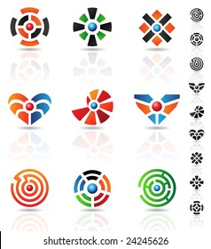 abstract geometrical shapes and graphic design elements
