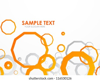 Abstract geometrical template