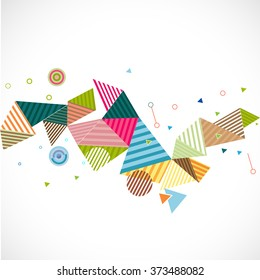 abstract geometrical template with creative graphic and triangle line concept and decoration, vector illustration