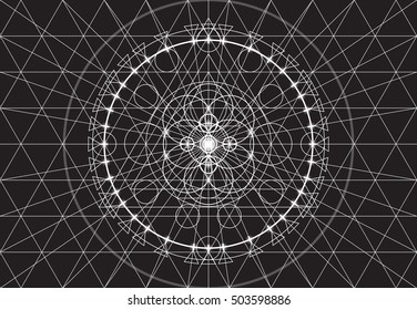 Abstract geometry background, seamless pattern