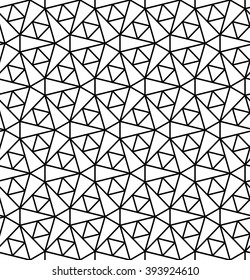 Abstract geometry black and white hipster fashion grid background pattern