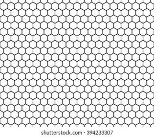 Abstract geometry black and white hipster fashion hexagon pattern