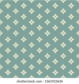 Abstract geometry diamond shape pattern on retro green color background. For decoration, tiling seamless floor, gift wrap, wallpaper, presentation template