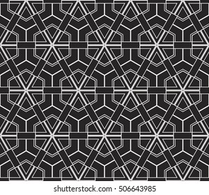 Abstract geometry pattern. Line and shape. Vector illustration. Design for wallpaper, notebook, fabric, scrapbook. black and white color