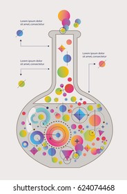 Abstract Geometry Shapes Form a Chemical Flask. Vector Illustration