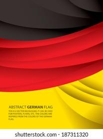 Abstract Germany, German Flag (vector Art)