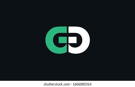 An abstract GG logo design vector