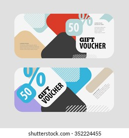 abstract gift voucher coupon design template stock vector royalty