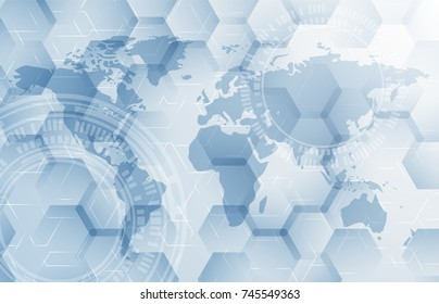 Abstract global technology background. Vector illustration