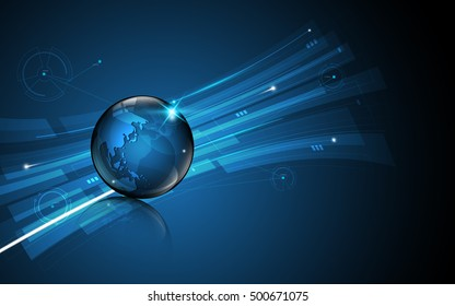 abstract global technology innovation concept movement pattern design background