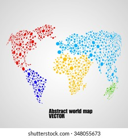 Abstract globe earth from molecule structure. Vector illustration. Eps 10