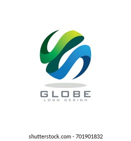 Abstract globe logo