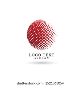 Abstract Globe Logo. Symbol & Icon Vector Template.