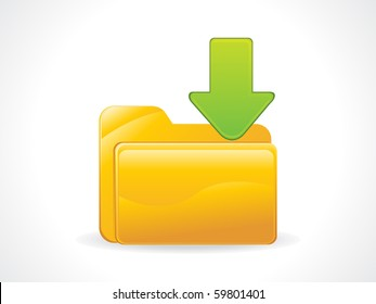 abstract glossy download icon vector illustration