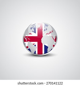 Global flags images stock photos vectors shutterstock abstract glossy globe in background united kingdom flag great britain uk vector flag button freerunsca Image collections