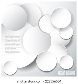 Abstract glossy  origami speech bubble. Vector abstract background.