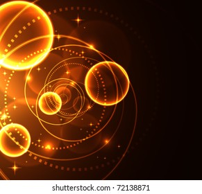 Abstract glowing background, vector illustration