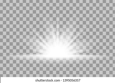 Sparkle Light Glow Effect Light Glow Stock Vector (Royalty