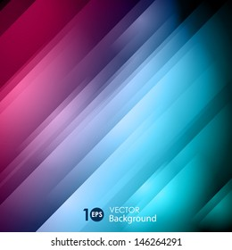Abstract glowing striped background. Vector eps 10.