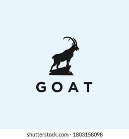 abstract goat logo. goat icon