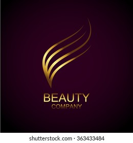 Abstract gold beauty logo,Identity for beauty