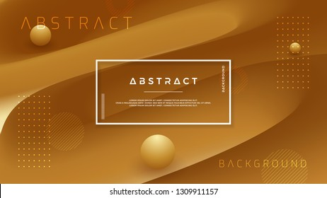 Abstract gold, brown vector background.