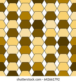 Abstract gold geometric seamless pattern. vector illustration